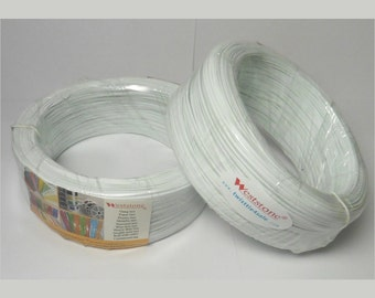 20pcs Plastic twist tie spool about 300FT each - white color