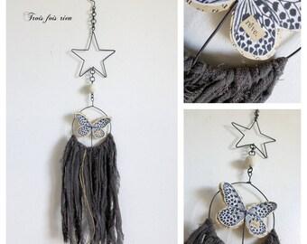 Dream dreams Butterfly wire, paper, linen N 66