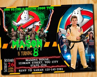 Ghostbusters invitation, Ghostbusters birthday invitation, Ghostbusters Birthday, GhostBusters Birthday Party, Ghostbusters Invite