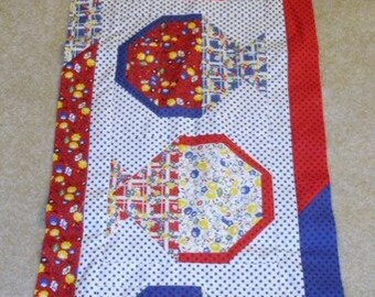 A TISKET a TASKET May Baskets quilted table runner pattern Spring may Year two