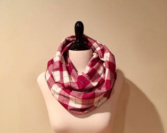 Infinity Scarf. Red and White.