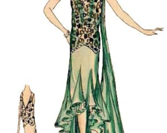 1930 Dinner Gown Pattern by EvaDress