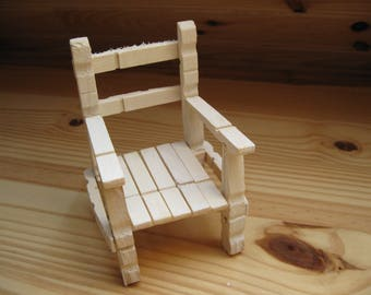 Chair wooden clothes pins