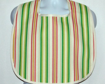 Striped Adult Bib, Custom Funny  Gag Gift, For Grandparent, Boss, Friend, Husband, Wife, Personalize With Name, No Shipping Fee, AGFT 1032