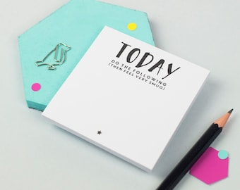 Today Sticky Notes - Feel Very Smug - To Do List - Planner - Organiser - Unique Stationery