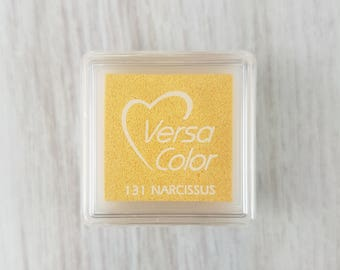 VersaColor Pigment Ink Pad Small in Narcissus Ink for stamp - Yellow Ink Pad - Versa Color - Colour Ink Pad - Yellow Inkpad