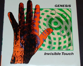 """Genesis - Invisible Touch - """"Tonight, Tonight""""  """"Throwing It All Away"""" - RCA Club Edition - Atlantic 1986 - Vintage Vinyl LP Record Album"""