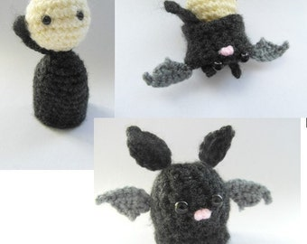 From Vlad to Bat crochet pattern - PDF instructions - perfect for Halloween!