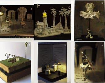 Greeting Card - Book Sculpture - Paper Art