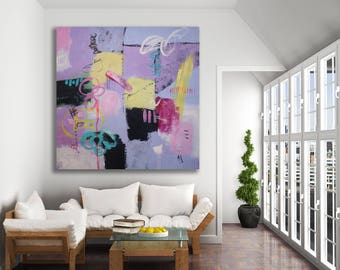 Bold Modern Art / Colorful Abstract Painting / Original Abstract Art / XL Abstract Art / Large Modern Art / XL Art