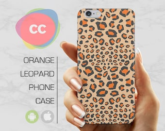 Leopard Print Phone Case / iPhone 6s Case / iPhone 7 Plus Case / 6, 5, 5S, SE, Plus Case / Samsung S8, S7, S6 Gift Case - PC-166