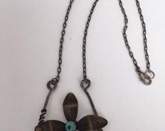 Beautiful wire square pendant