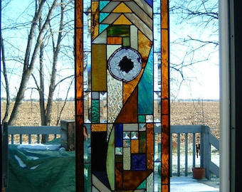 Custom Stained Glass Prairie Panel