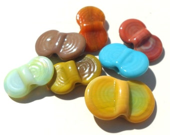 Wing Dings Mix Number 5-  handmade lampwork glass winged beads