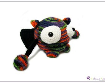 Crochet Monster Amigurumi - Halloween Alien Stuffed Toy - Monster Plushie - READY TO SHIP