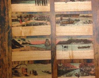 Souvenirs from Japan ~ scenes on thin wood