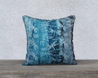 """Batik Blue 18""""x18"""" Pillow Case"""