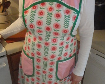 Beautiful apron with floral design