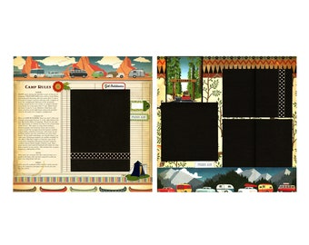 Camp Rules - Two Premade Scrapbook Pages