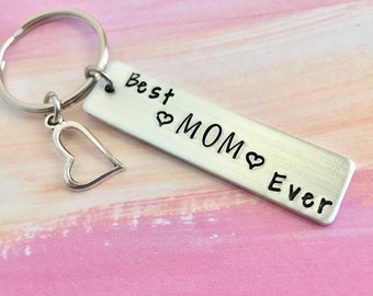 Best Mom Ever Keychain~Mother's Day Gift, Mom Gift, Hearts