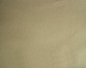 ORGANIC Cotton Duck Canvas Fabric KHAKI Apparel Home Decorating Crafting
