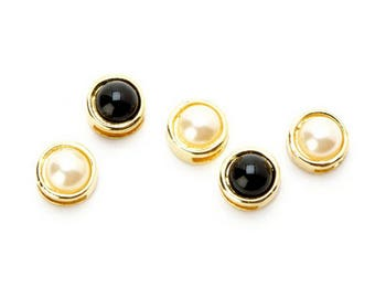 Gold Pearl Sliders - Black and White - 1999-6513