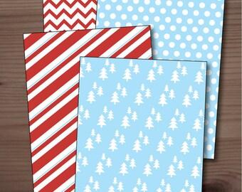 Printable Christmas decorative papers