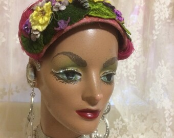 Stunning Feather and Floral Mini Hat