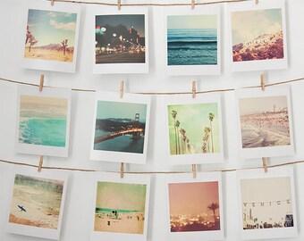 décor de dortoir, mini imprimer ensemble, petit mur Galerie photos, photographie de Los Angeles, art mural en Californie, décor, San Francisco, meilleures ventes de plage