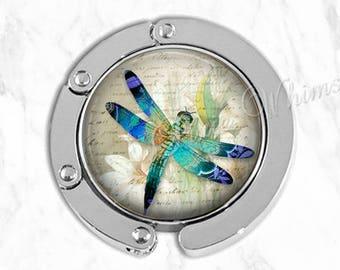 DRAGONFLY Purse Hook, Dragonfly Art Purse Hanger, Tabletop Purse Holder, Bag Hook, Purse Accessory, Handbag Hanger, Tote Bag Hanger