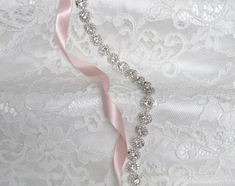 Silver Crystal Rhinestone Bridal Sash,Wedding sash,Belts And Sashes,Bridal Accessories,Bridal Belt and sashes,Style #39