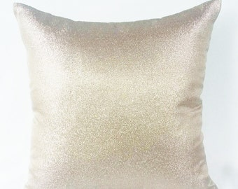 Metallic Gold Pillow Cover. Decorative Champagne gold Pillow. Dull Gold pillow, Gold metalic cushion covers  26 inch euro shams. Custom made
