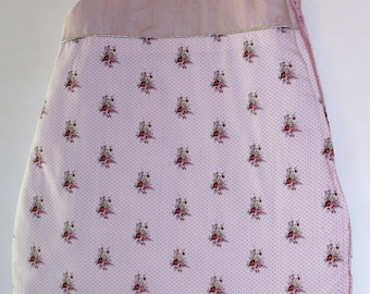 sleeping bag or Babygro baby daughter 0/6 months pink floral cotton and pale pink linen