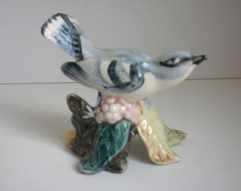 Stangl Pottey Bird Figurine - Cerulean Warbler