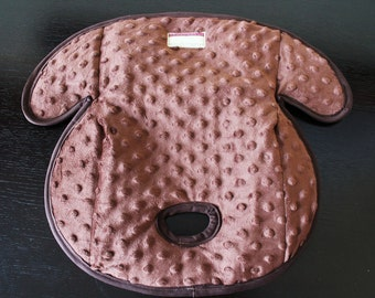 Carseat Protector Pad, Waterproof Carseat or Stroller Pad, COMPLIMENTARY SHIPPING, Minky Brown