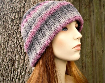Instant Download Knitting Pattern - Knit Hat Knitting Pattern - Knit Hat Pattern for Wide Cuff Beanie Hat - Womens Accessories