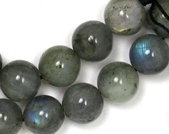 Labradorite Beads - 10mm Round - Limited Quantity