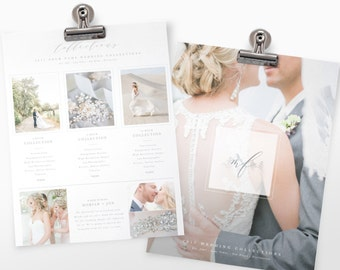 Photography Pricing Guide Template | Wedding Pricing Guide | Photoshop Template For Wedding Photography
