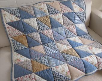 Handmade  Patchwork Quilt - Throw