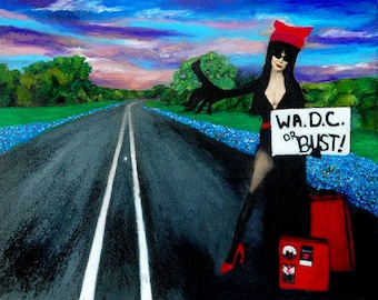 D.C. Or Bust-Oil Pastels on Panel