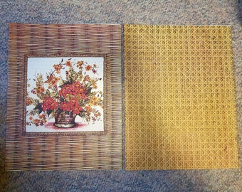 Mead Garden Theme Book Covers - Set of 2 - Basket Weave & Pot of Flowers