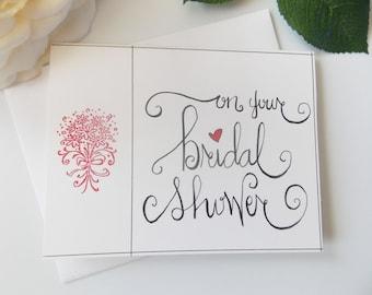 On Your Bridal Shower Card - Bridal Shower Card - Card for Bride - Gift for Bride - Wedding Card - Bridal Shower Gift - Handmade