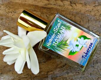 TUBEROSE PERFUME. Custom-Blended Roll-on Perfume. Made in Hawaii. 0.5 fl oz (15 ml).