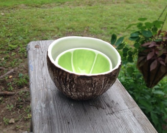 Lime & Coconut Bowl pair