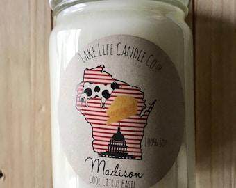 Madison Handmade Soy Candle: Lake Life Candle Co.