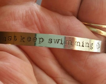 Mantra bracelet, mantra cuff, quote bracelet, quote cuff, saying bracelet, saying cuff, stackable bracelet, stackable cuff, stainless steel
