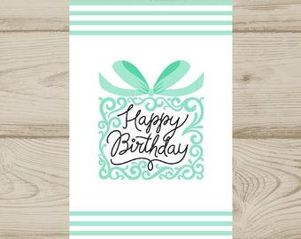 Birthday Card Tiffany