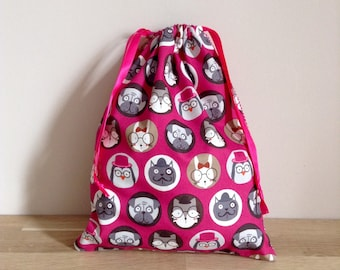 Pouch / snack bag / blanket bag / diaper Gallery of portraits - Luxe gray bag
