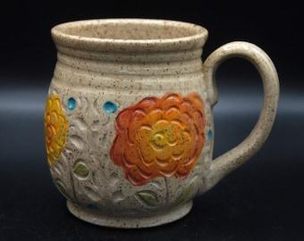 Orange Zinnia Mug