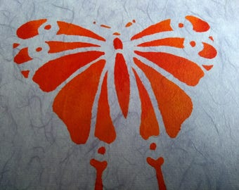Butterfly Painting on Canvas with textured background